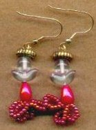 Raspberry Angel Earrings