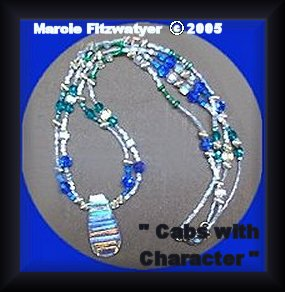 polymer-beads necklace and bracelet