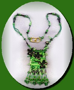 Green amulet bag