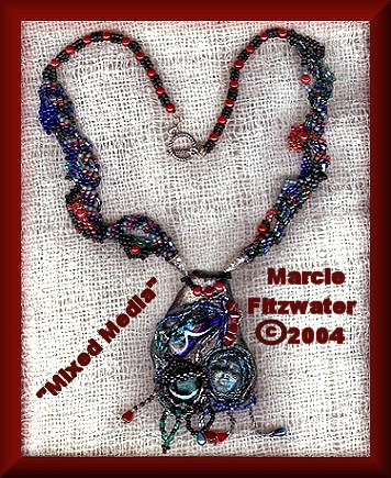 polymer-beads necklace